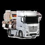 Lastwagen und Anhänger