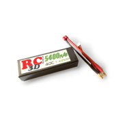 LiPo 2S 7.4V 4900mAh 30C RC Car Rounded Hard Case Tamiya Stecker 25*46.5*138.5mm