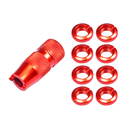 Aluminum Transmitter Switch Nuts (RED) For Spektrum DX...