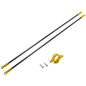 Rakonheli CNC AL Tail Boom Support Set - Blade 230 S/V2 Gold
