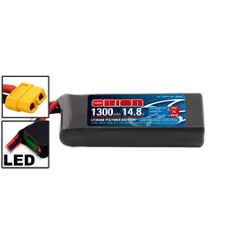 Team Orion LiPo 4S 14.8V 1300mAh 75C (Racing Drone Battery) XT60-Stecker